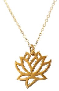 Other New Lotus Flower 14K Gold Plated Necklace, Lotus Flower Necklace.