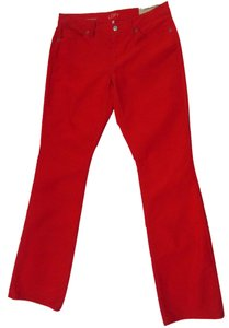 Ann Taylor LOFT Corduroy Boot Cut Pants Red