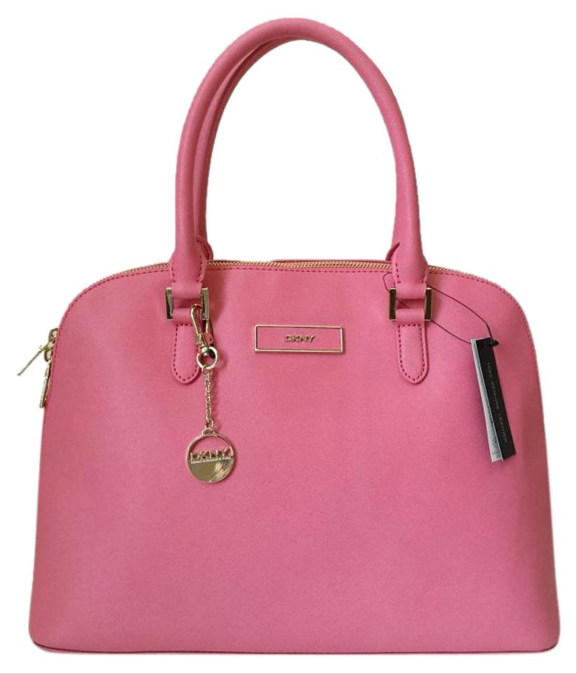 DKNY Saffiano Leather Pink Satchel | Satchels on Sale