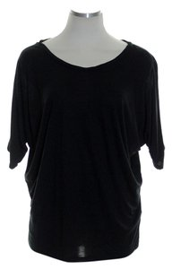 Vince Knit Dolman Stretchy T Shirt Black