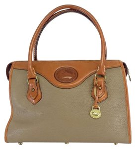 Dooney & Bourke Tan Brown Leather Shoulder Bag