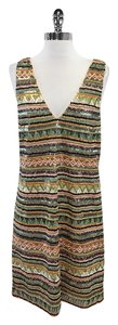 Alice + Olivia short dress Multi Color Beaded Sleeveless on Tradesy