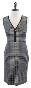 Tory Burch short dress Green & Cream Houndstooth Leather Trim on Tradesy