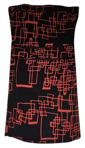 Topshop short dress Black, red on Tradesy
