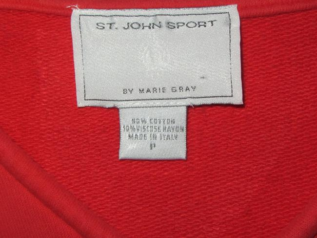 St. John ripped embroidered top