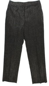 Bill Blass Tweed Parker Pant Trouser Pants Chocolate and Mink