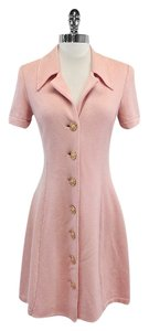 St. John short dress Light Pink Short Sleeve Knit on Tradesy