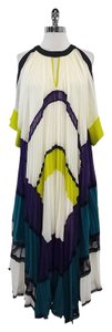 BCBGMAXAZRIA Multi Color Pleated Dress