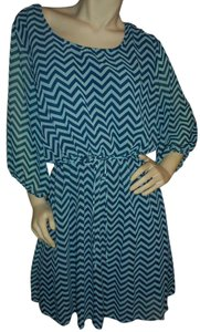 Express Peasant Chevron Party Comfortable No-iron Dress