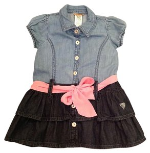Girls Denim Dress 3T Guess. FREE SHIPPING short dress on Tradesy