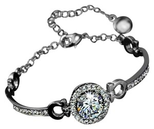White Gold Plated 3.5 Ct AAA Cubic Zirconia Swiss Bracelet
