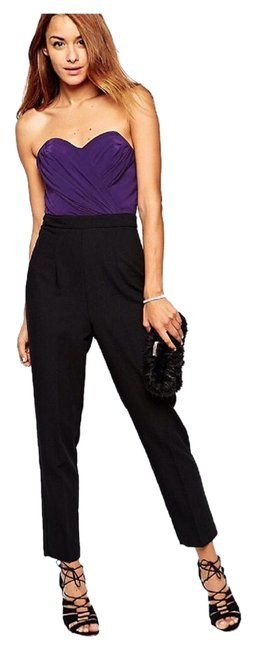 Preload https://img-static.tradesy.com/item/19221370/asos-purple-and-black-bandeau-romperjumpsuit-0-3-650-650.jpg