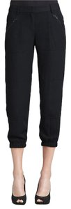 Theory Woven Zip Pocket Capri/Cropped Pants Black