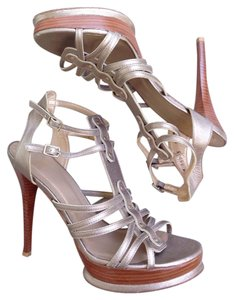 Stuart Weitzman Gold Pewter Sandals