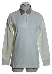Baume & Mercier Knit Stretchy Long Sleeve Top Ivory