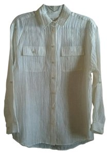 Michael Kors Blouse Shirt Beach Coverup Button Down Shirt Cream Ivory