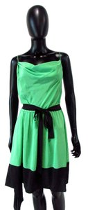 Robert Rodriguez short dress Green Spaghetti Strap Cowl Assymetric Silk on Tradesy
