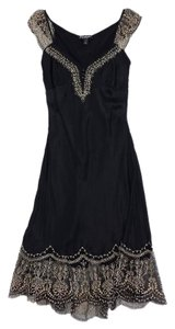 Betsey Johnson short dress Black Tan Embroidery on Tradesy