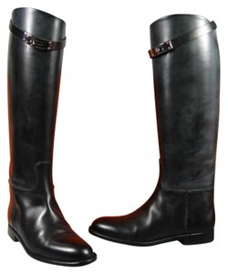 Hermès New Riding Boot Box Calfskin Black Boots
