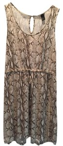 H&M short dress Print Python Cotton on Tradesy