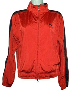 Puma Puma Vintage Warm Up Track Jacket Red Zipper Front Running