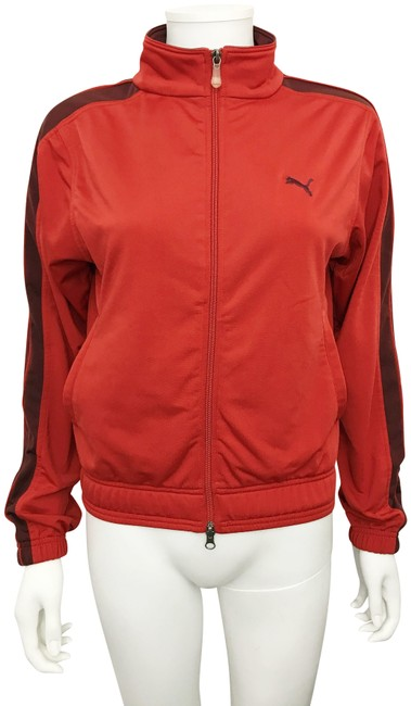 Item - Red Vintage Warm Up Track Zipper Front Running Activewear Outerwear Size 4 (S, 27)