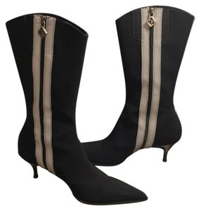 Donald J. Pliner Black-Silver/Gray Boots