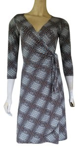 Maggy London short dress Brown & Aqua Wrap Slinky on Tradesy