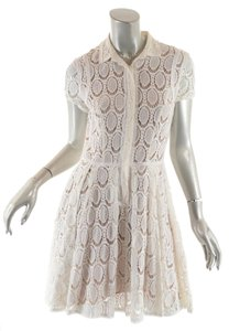 BCBGMAXAZRIA short dress White Bcbg Cotton Eyelet on Tradesy