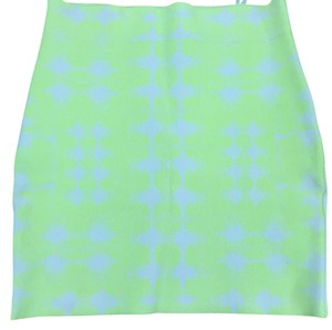 BCBGMAXAZRIA Mini Skirt Neon yellow /white