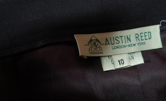 Austin Reed Dark Navy 2 Made In Usa Worsted Wool Pleated Skirt Size 10 M 31 Tradesy