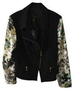 Iman Global Chic Satin Sleeve Moto Jacket