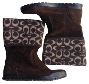 Coach Chocolate Boots