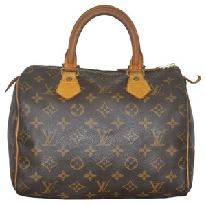 Louis Vuitton Canvas Speedy 25 Handbag Satchel in brown