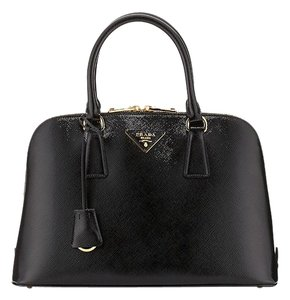 Prada Patent Leather Satchel in Black
