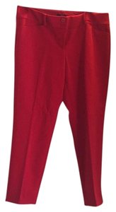 The Limited Straight Pants Red