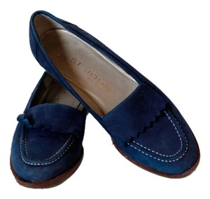 St. John Conservative Loafers Business Blue Flats