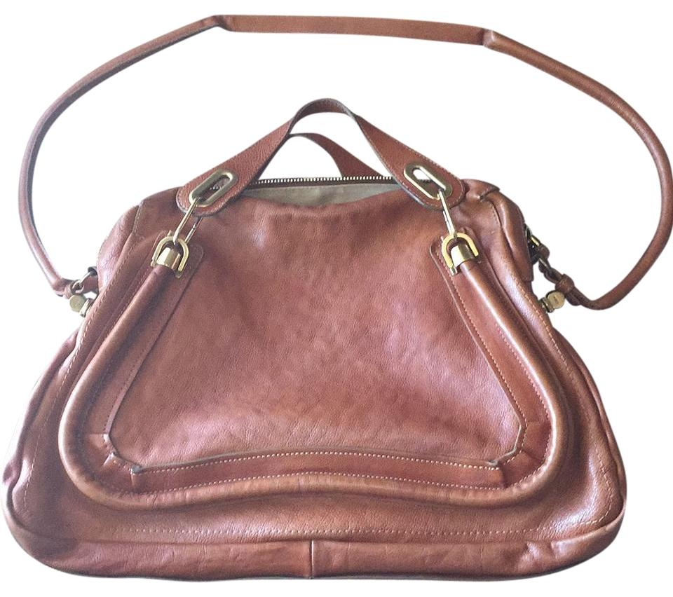 904894b1c Chloé Paraty Large 2-way Cognac Brown Soft Leather Satchel - Tradesy
