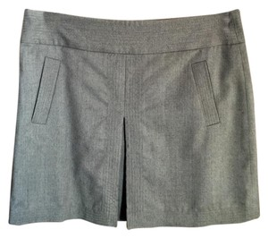 J.Crew Wool Wool Mini Mini Skirt Gray