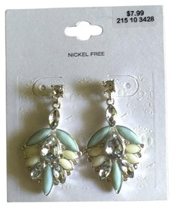 Target Mint Silver Nickel Free Dangle Earrings
