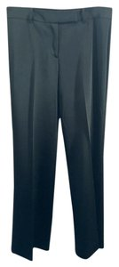 BCBGMAXAZRIA Classic Trouser Pants BLACK Satin Sateen