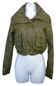 bebe Olive Green Leather Jacket
