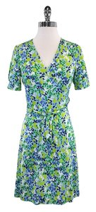 Lilly Pulitzer short dress Blue & Green Silk on Tradesy
