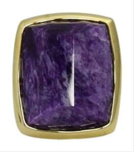 Large Hand Selected Dark Purple Amethyst 14k Gold Ring