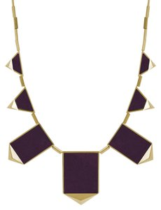 House of Harlow 1960 House of Harlow 1960 Leather Inset Geo Necklace Violet