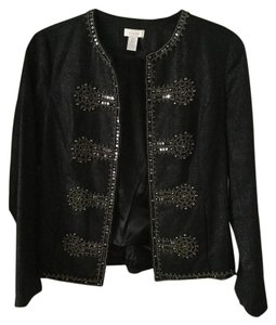 Chico's Chico's Embellished Fitted Denim Jacket