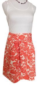 J.Crew Skirt Coral and cream