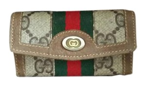 Gucci Vintage Gucci Key Case 4 Loops GG Stripes