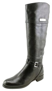Coach Micha Leather Riding Boot Black Boots