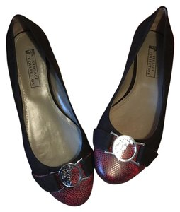 Versace Collection Black, Red Flats